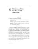 BASIC HAZARDOUS WASTE MANAGEMENT - CHAPTER 15 (end)