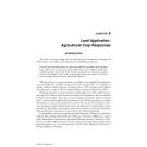 Land Application of Sewage Sludge and Biosolids - Chapter 9