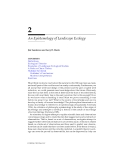 LANDSCAPE ECOLOGY A Top-Down Approach - Chapter 2