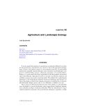 LANDSCAPE ECOLOGY in AGROECOSYSTEMS MANAGEMENT - CHAPTER 16 (end)