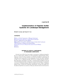 LANDSCAPE ECOLOGY in AGROECOSYSTEMS MANAGEMENT - CHAPTER 6