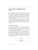 PHYSICAL - CHEMICAL TREATMENT OF WATER AND WASTEWATER - CHAPTER 11