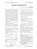 Bài toán về muối ngậm nước