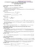 Đề thi khảo sát chất lượng ôn thi đại hoch khối A-B-D năm 2010 môn toán