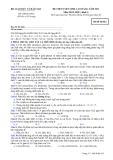 Đề thi tuyển sinh cao đẳng năm 2011 môn hóa khối A mã 812