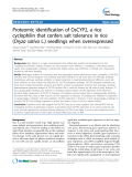 """báo cáo khoa học: """"  Proteomic identification of OsCYP2, a rice cyclophilin that confers salt tolerance in rice (Oryza sativa L.) seedlings when overexpressed"""""""