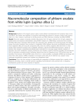 """báo cáo khoa học: """"  Macromolecular composition of phloem exudate from white lupin (Lupinus albus L.)"""""""