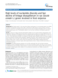 "báo cáo khoa học: ""  High levels of nucleotide diversity and fast decline of linkage disequilibrium in rye (Secale cereale L.) genes involved in frost response"""