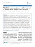 "báo cáo khoa học: "" TILLING for allergen reduction and improvement of quality traits in peanut (Arachis hypogaea L.)"""