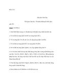 Đề số 14:  Môn thi: Hoá Học
