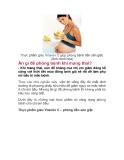 Ăn gì để phòng bệnh khi mang thai?