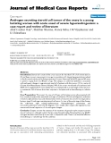 """Báo cáo khoa hoc:""""   Androgen secreting steroid cell tumor of the ovary in a young lactating women with acute onset of severe hyperandrogenism: a case report and review of literature"""""""