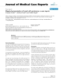 """Báo cáo y học: """"Atypical presentation of renal cell carcinoma: a case report"""""""