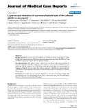 """Báo cáo y học: """"Laparoscopic resection of a primary hydatid cyst of the adrenal gland: a case report"""""""