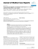 """Báo cáo khoa hoc:""""   Trans-visceral migration of retained surgical gauze as a cause of intestinal obstruction: a case report"""""""