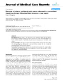 """Báo cáo khoa hoc:"""" Reversal of isolated unilateral optic nerve edema with concomitant visual impairment following blunt trauma: a case report"""""""