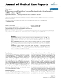 """Báo cáo khoa hoc:"""" Pulmonary manifestations in a pediatric patient with ulcerative colitis: a case report"""""""