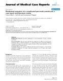 "Báo cáo y học: ""Mediastinal extension of a complicated pancreatic pseudocyst; a case report and literature review"""