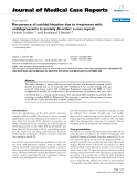 """Báo cáo y học: """"Recurrence of suicidal ideation due to treatment with antidepressants in anxiety disorder: a case report"""""""