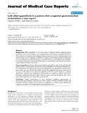 """Báo cáo y học: """" Left-sided appendicitis in a patient with congenital gastrointestinal malrotation: a case report"""""""