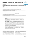 """Báo cáo y học: """"Intussusception of the appendix secondary to endometriosis: a case report"""""""
