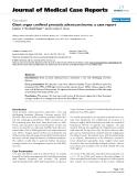 "Báo cáo y học: ""Giant organ confined prostatic adenocarcinoma: a case report"""