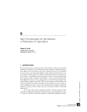 PESTICIDES IN AGRICULTURE AND THE ENVIRONMENT - CHAPTER 9