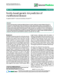 "báo cáo khoa học: ""  Family-based genetic risk prediction of multifactorial disease"""