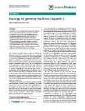 "báo cáo khoa học: "" Musings on genome medicine: Hepatitis C David G Nathan and Stuart H Orkin"""