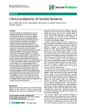 "báo cáo khoa học: ""  Clinical proteomics of myeloid leukemia"""