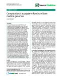 "báo cáo khoa học: "" Computational ecosystems for data-driven medical genomics"""