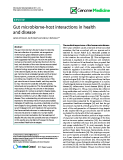 """báo cáo khoa học: """" Gut microbiome-host interactions in health and disease"""""""