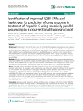 """báo cáo khoa học: """"Identification of improved IL28B SNPs and haplotypes for prediction of drug response in treatment of hepatitis C using massively parallel sequencing in a cross-sectional European cohor"""""""