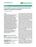 """báo cáo khoa học: """" Transcriptomic analysis of pluripotent stem cells: insights into health and disease"""""""