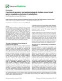 "báo cáo khoa học: ""  Functional genomic and epidemiological studies reveal novel genes regulating cholesterol metabolism"""