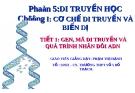 Giáo án điện tử sinh học: Sinh học 12-GEN, MÃ DI TRUYỀN VÀ QUÁ TRÌNH NHÂN ĐÔI ADN