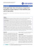 """Báo cáo y học: """"Prolonged high-dose intravenous magnesium therapy for severe tetanus in the intensive care unit: a case series"""""""