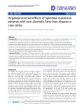 """Báo cáo y học: """" Hepatoprotective effects of Spirulina maxima in patients with non-alcoholic fatty liver disease: a case series"""""""