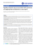 "Báo cáo y học: ""Papillary thyroid cancer associated with syndrome of inappropriate antidiuresis: a case report"""