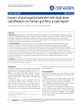 "Báo cáo y học: "" Impact of prolonged treatment with high-dose ciprofloxacin on human gut flora: a case report"""