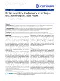 "Báo cáo y học: "" Benign mesenteric lipodystrophy presenting as low abdominal pain: a case report"""