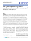 """Báo cáo y học: """" Intricacies in the surgical management of appendiceal mucinous cystadenoma: a case report and review of the literature"""""""