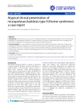 """Báo cáo y học: """" Atypical clinical presentation of mucopolysaccharidosis type II (Hunter syndrome): a case report"""""""