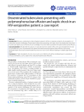 """Báo cáo y học: """"Disseminated tuberculosis presenting with polymorphonuclear effusion and septic shock in an HIV-seropositive patient: a case report"""""""
