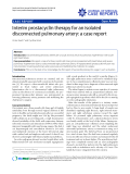 """Báo cáo y học: """"terim prostacyclin therapy for an isolated disconnected pulmonary artery: a case report"""""""