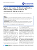 "Báo cáo y học: ""Typhoid ulcer causing life-threatening bleeding from Dieulafoy's lesion of the ileum in a seven-year-old child: a case report"""