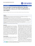"""Báo cáo y học: """"Post-transplant lymphoproliferative disorder involving the ovary as an initial manifestation: a case report"""""""
