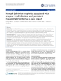"Báo cáo y học: ""Henoch-Schönlein nephritis associated with streptococcal infection and persistent hypocomplementemia: a case report"""