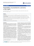 "Báo cáo y học: "" Hepatobiliary neuroendocrine carcinoma: a case report"""