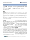 "Báo cáo y học: "" Lower lid entropion secondary to treatment with alpha-1a receptor antagonist: a case report"""